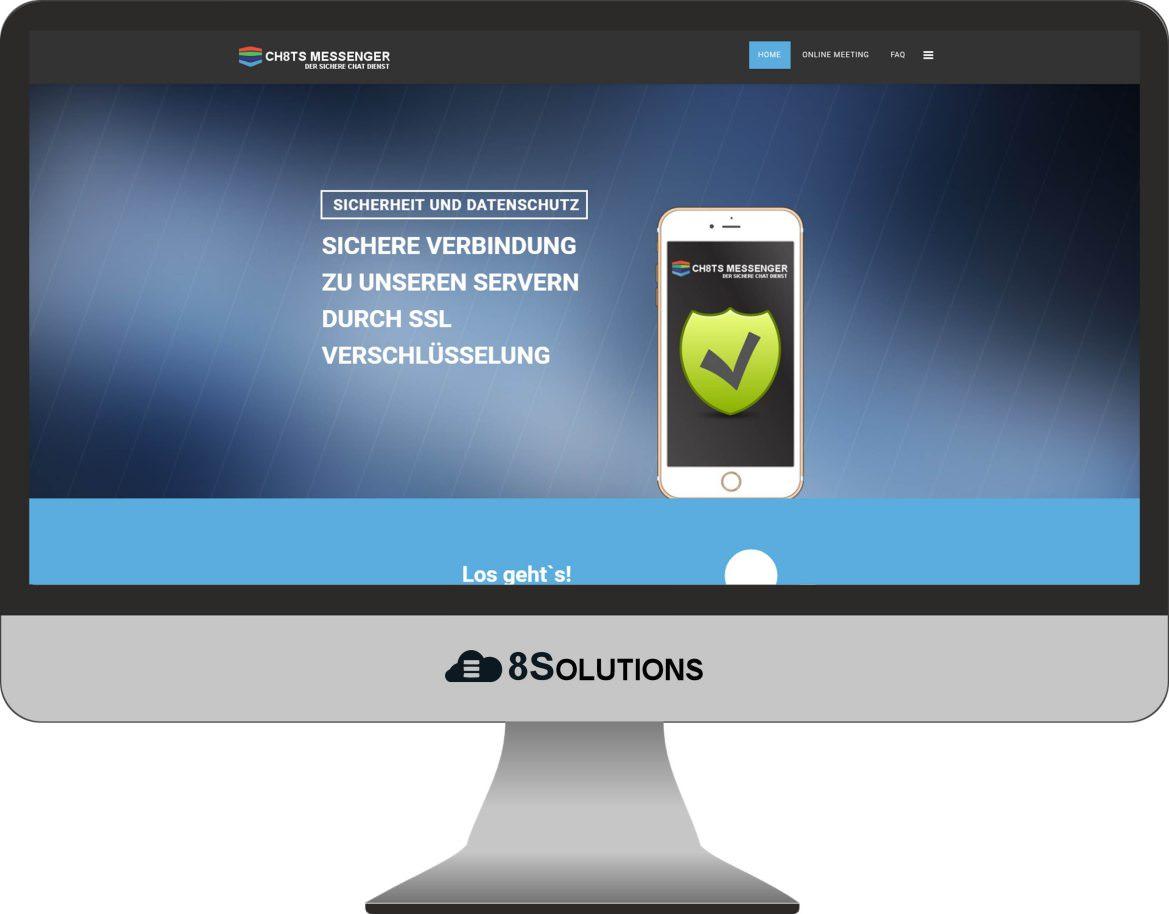Projekt – 8SOLUTIONS Dienst, sicher chatten mit CH8TS.de