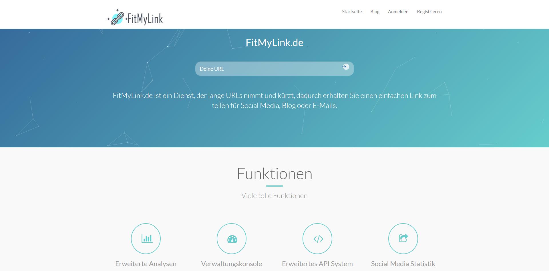 Neues Projekt: URLs kürzen, Klickstatistiken und vieles mehr. So funktioniert FitMyLink.de