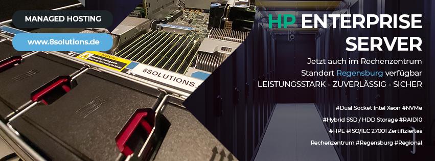 Neue Hostserver mit Markenhardware von Hewlett Packard Enterprise (HPE)